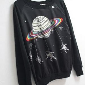 Space Astronaut Harajuku Sweater