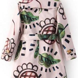 Designer Pretty Turndown Collar Pri..
