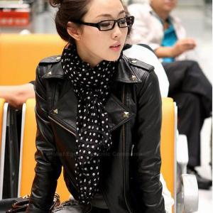 Punk Lapel Rivet PU Leather Women's..