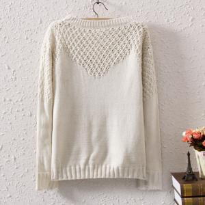 Woman'S Hollow Out Shoulder Sweater