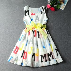 Fashion Letters Silk Dress