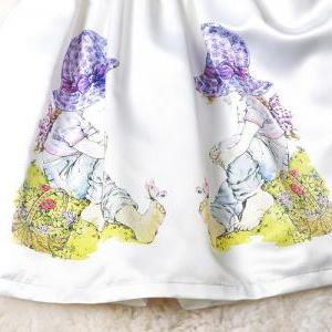 Children Pattern Solid Color Sleeve..
