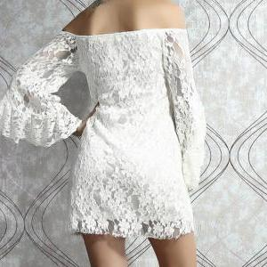 Fashion Fringed Lace Dress The Horn..