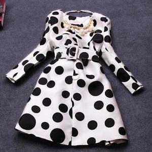Fashion Polka Dot Coat