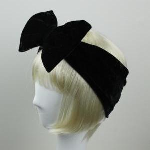 Woman Handmade Velvet Turban Headba..