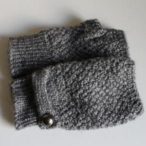 Handmade Knitted Fingerless Gloves ..