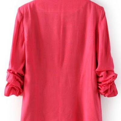 New Style Ruffled Sleeves Single Bu..