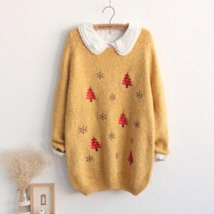 Peter Pan Collar Christmas Sweater