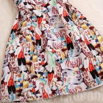 Fashion Print Dress #BA808EI