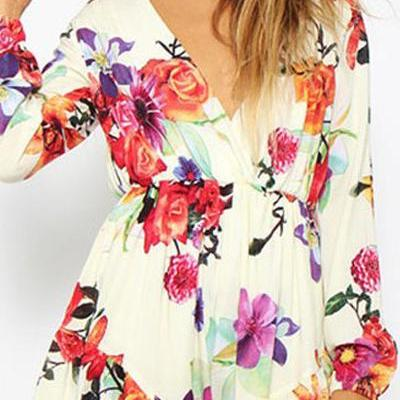 Gorgeous Floral Printed Long Sleeve..