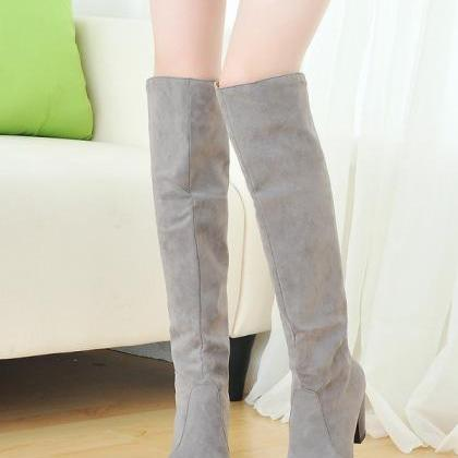 Fashion women boots shoes black sue..