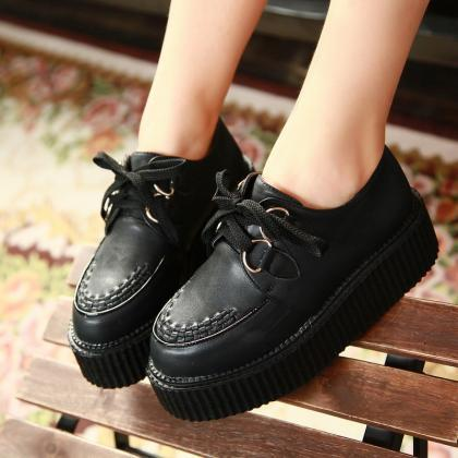 HOT Womens Shoes PU Leather Oxfords..