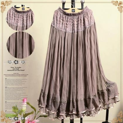 retro skirts womens large swing lon..