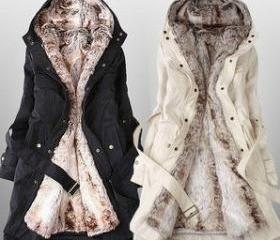 Faux Fur Lined Coat