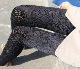 Black Velvet Legging..