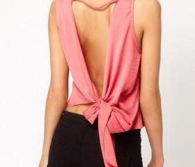 Bow Design Backless..