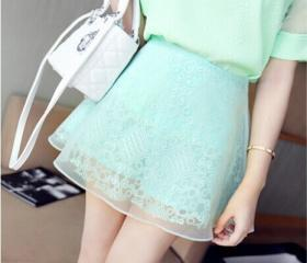 Lace high-waisted sk..