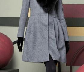 Gray/Black Wool Coat..