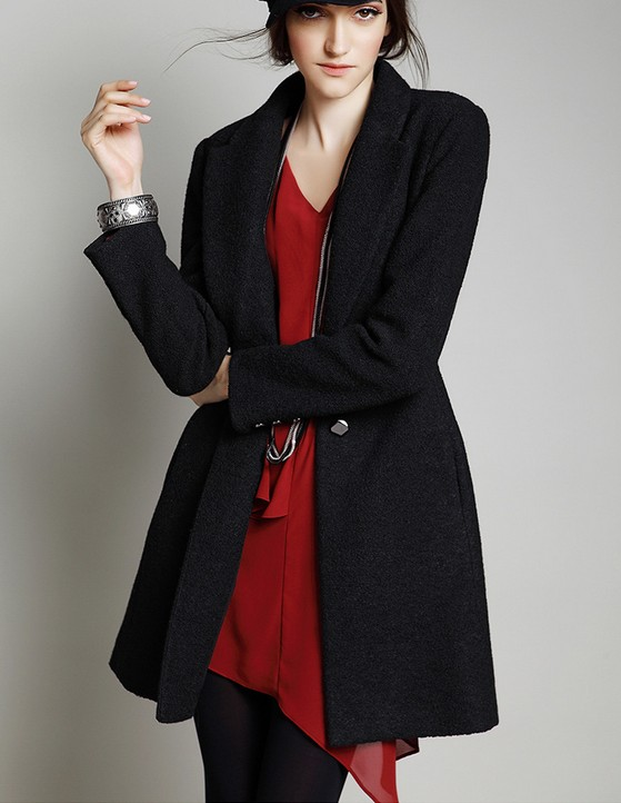a0d2221d68a78 Women Coat Black Coat Jacket on Luulla