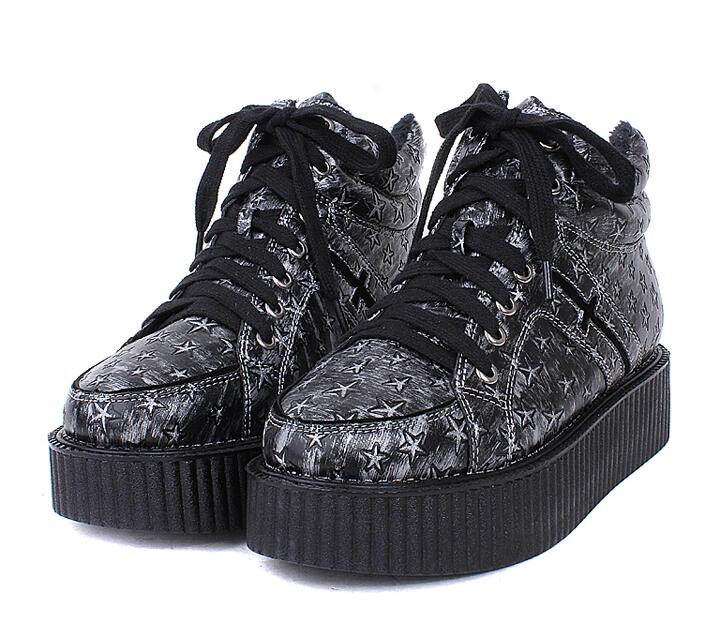 Harajuku Crosses Galaxy Platform Shoes Creepers