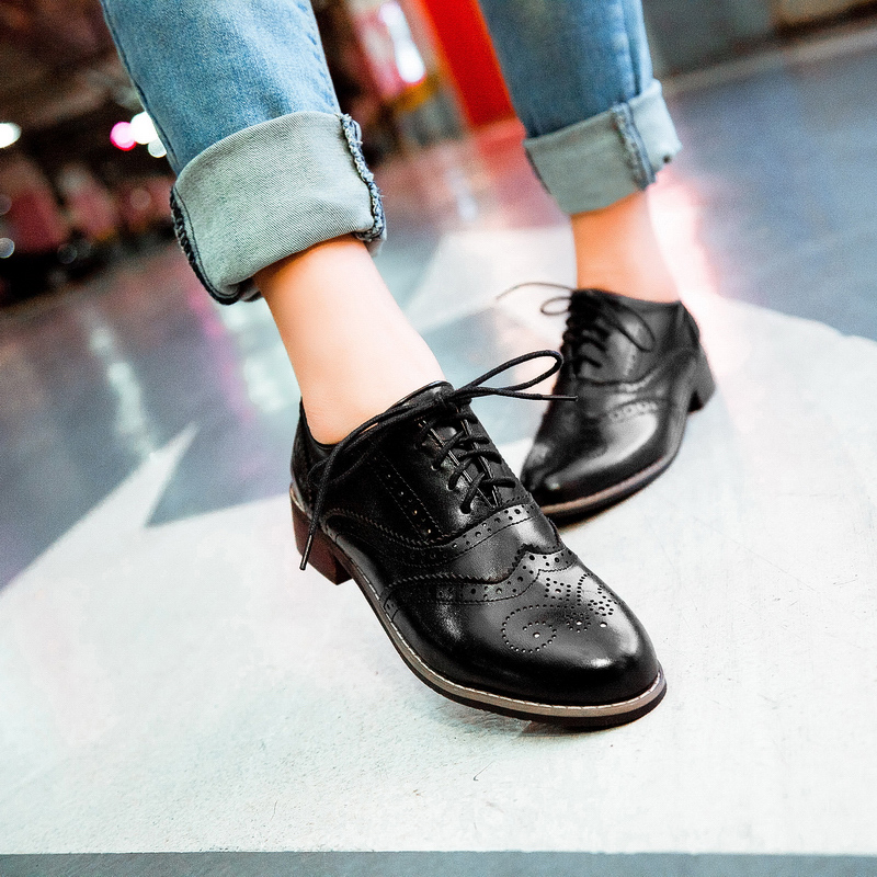 Black Oxford Shoes Womens Under