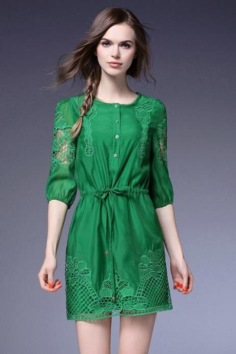 fashion hollow openwork crochet dress