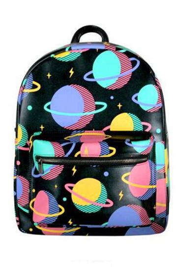 New Harajuku Planet Pattern Backpack