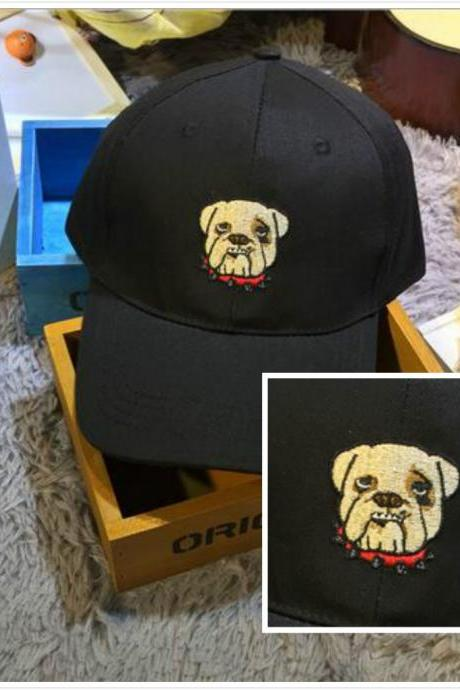 Free shipping ulzzang embroidery Dogos dog hat cap#345