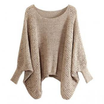 Sweater With Batwing Sleeves