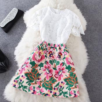 SEXY Fashion Stitching Lace Dress