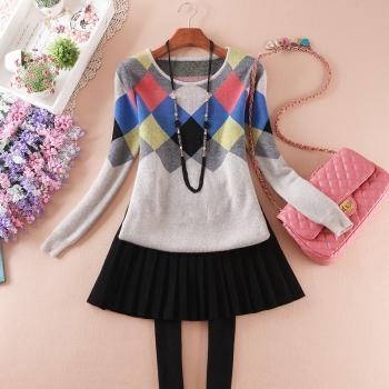 Box Color Stitching Sweaters