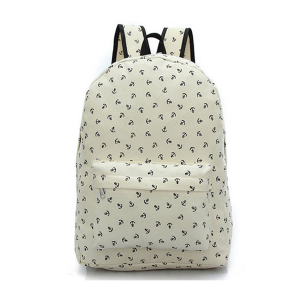 Full Anchor Printed Backpack