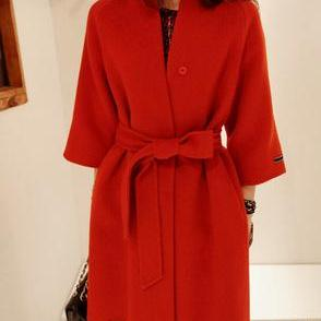 Fashion Slim Woolen Coat AW915EH