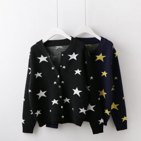 STAR SWEATER CARDIGAN #181